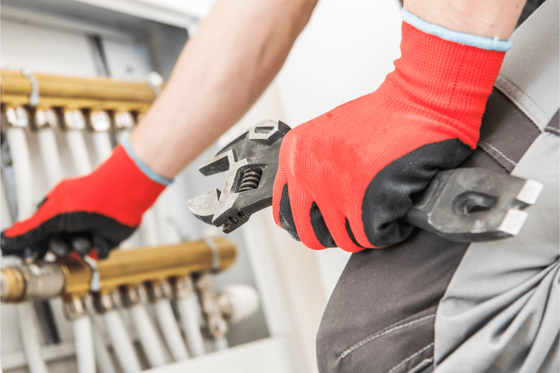 central heating repairs being carried out in Bishop's Stortford